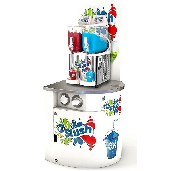 Slush Machine Compact Display Stand with Machine